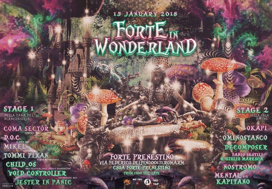 Forte In Wonderland flyer